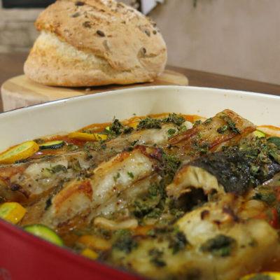Riblji filet na belom pasulju na Italijanski nacin