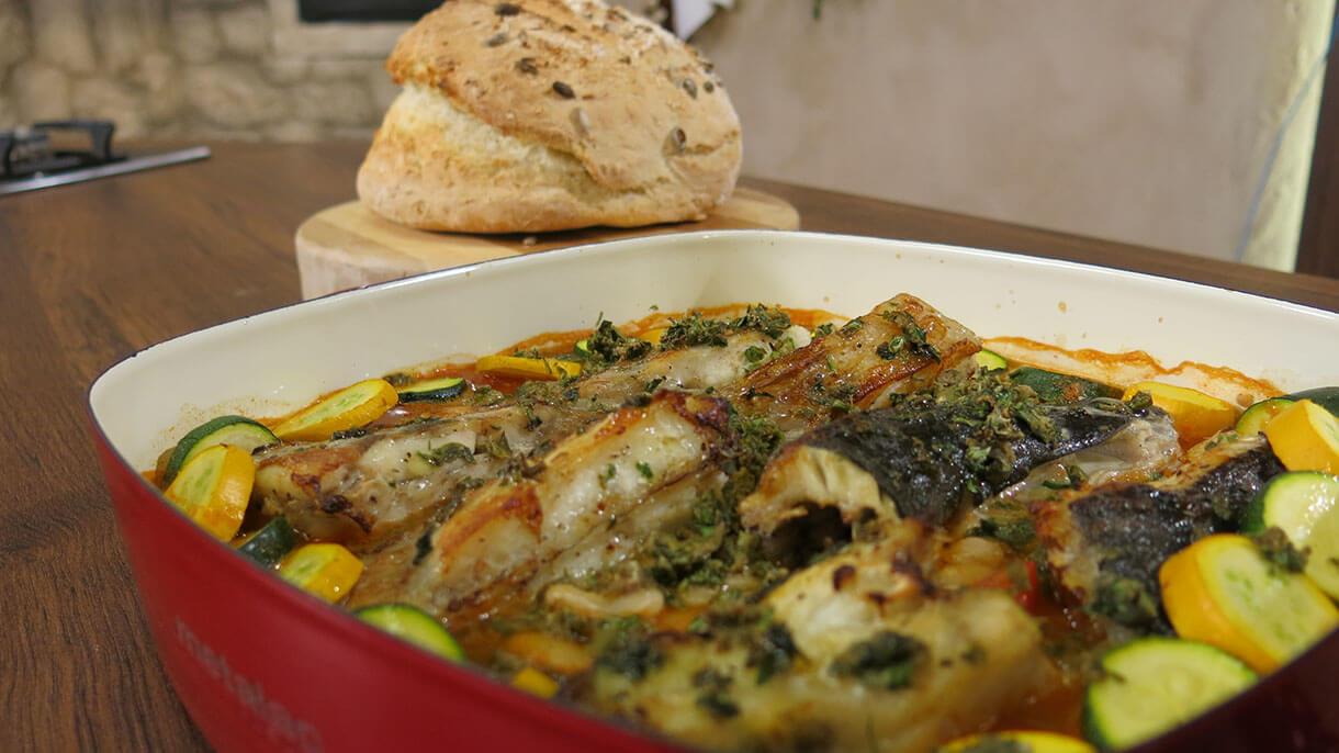 Riblji filet na belom pasulju na italijanski način