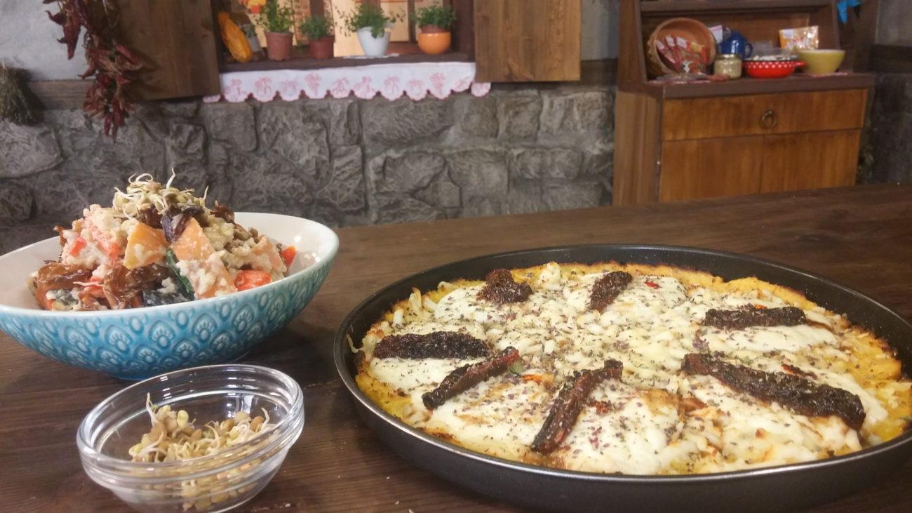 Pizza od karfiola i parena salata od prosa