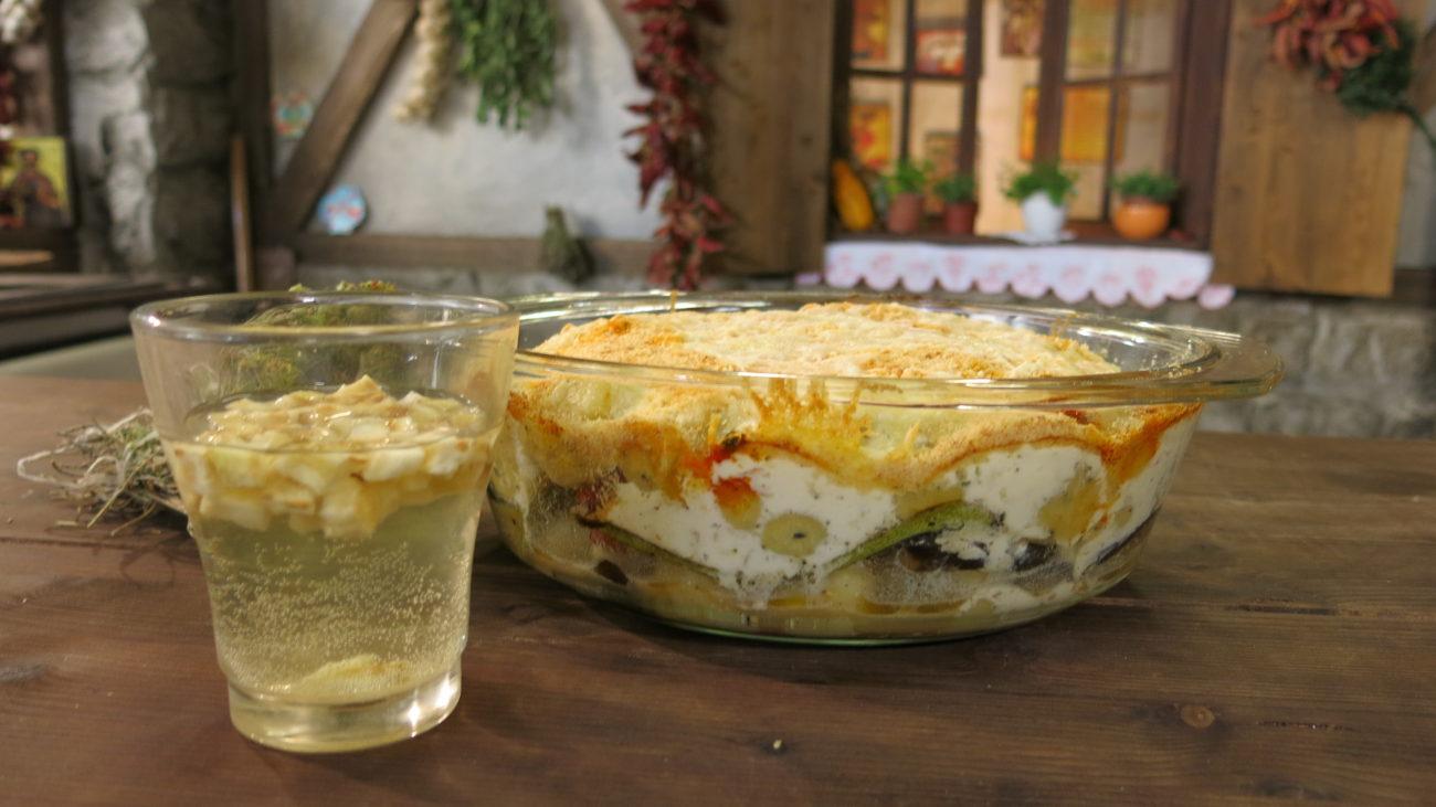 Zapečene njoke sa grilovanim povrćem i pirotskim sirom