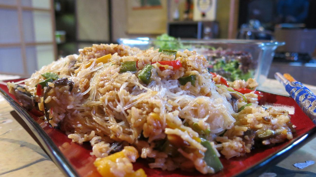 Glass nudle sa pirinčem i povrćem
