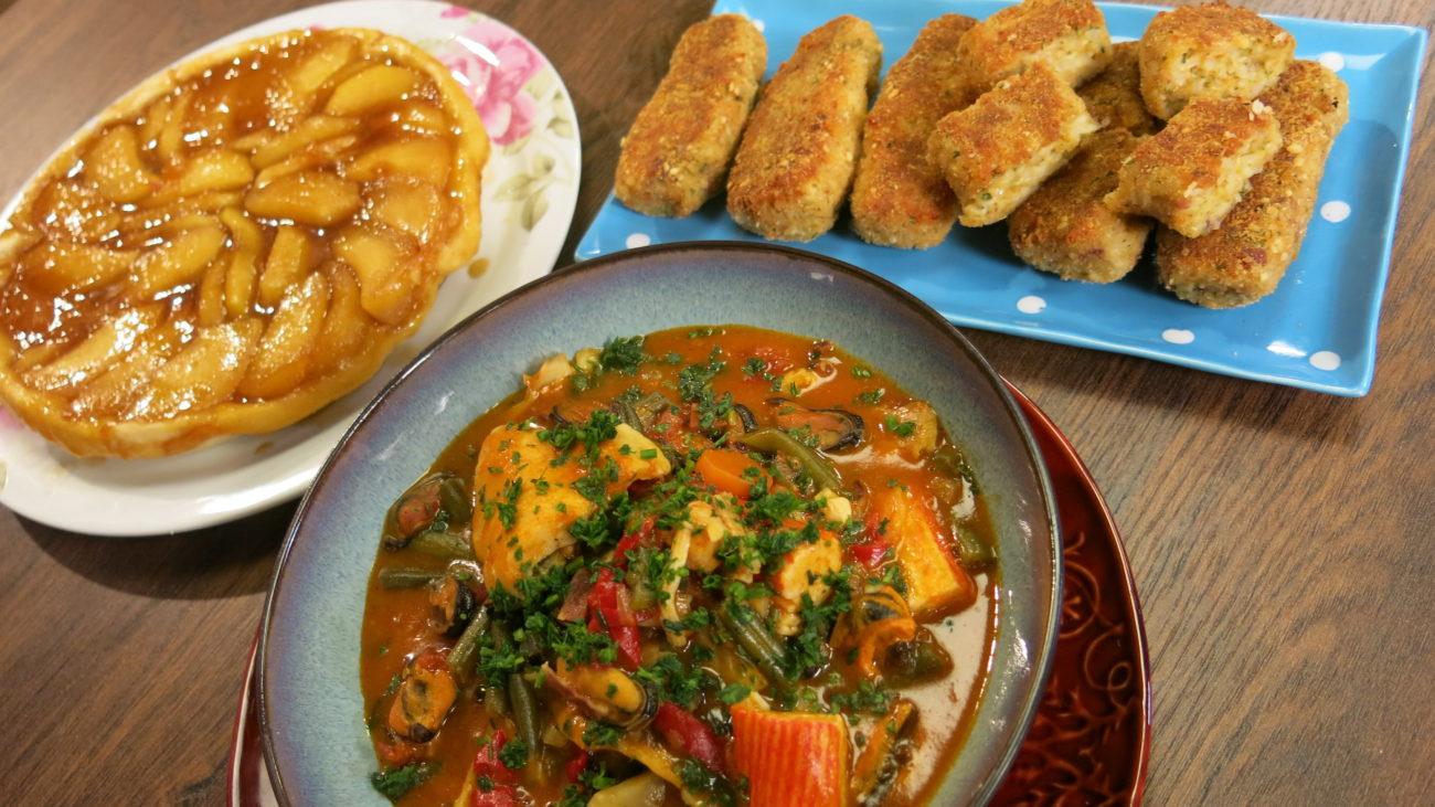 Gambo sa morskim plodovima i tart Tatan