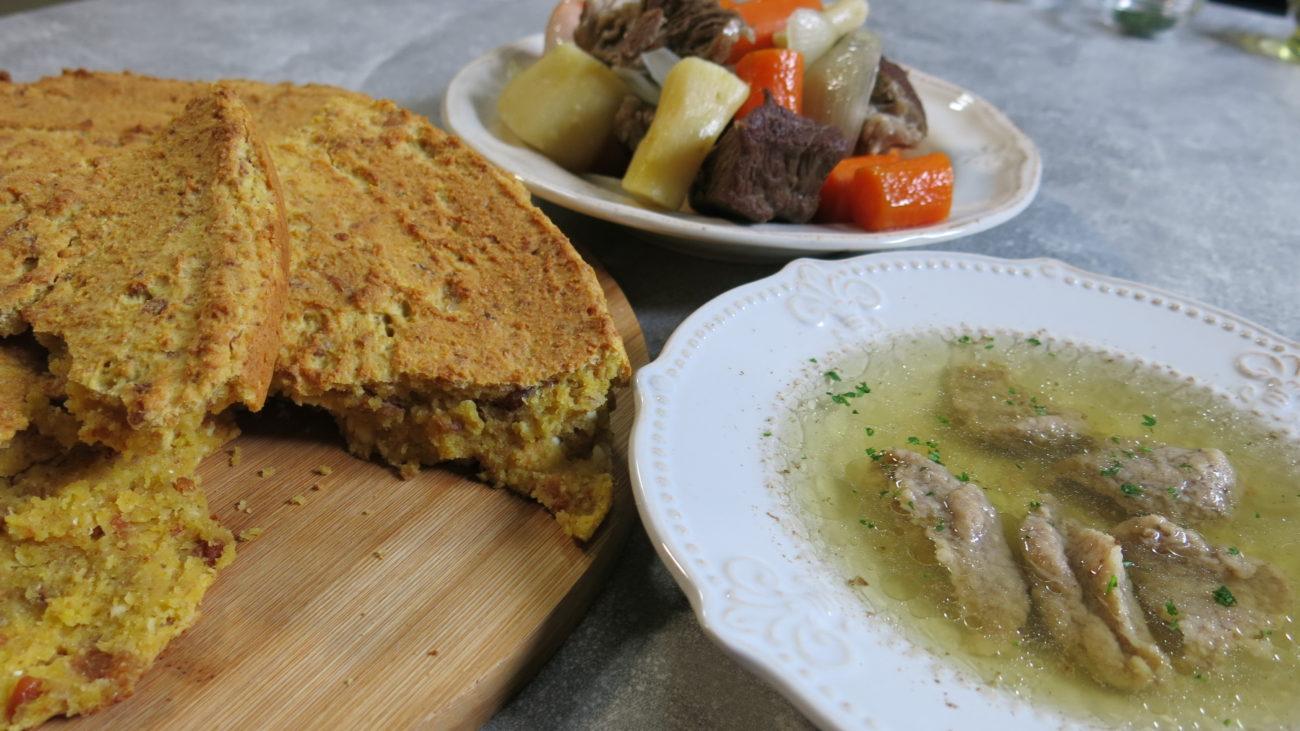 Starinska supa sa knedlama od džigerice i užička proja