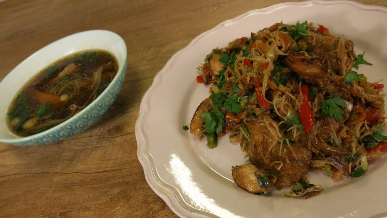 Vijetnamska pho bo supa i stir fraj