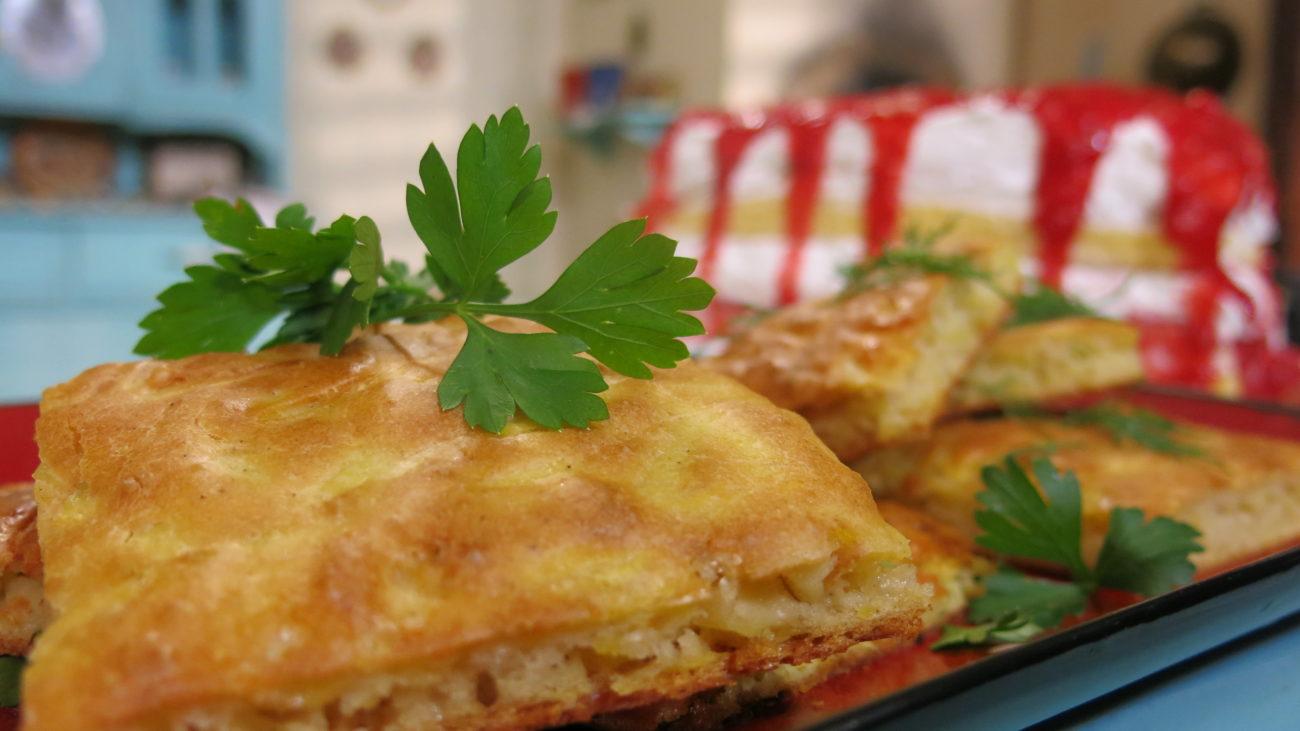 Harulja sa krompirom i tikvicama, rajski kolač