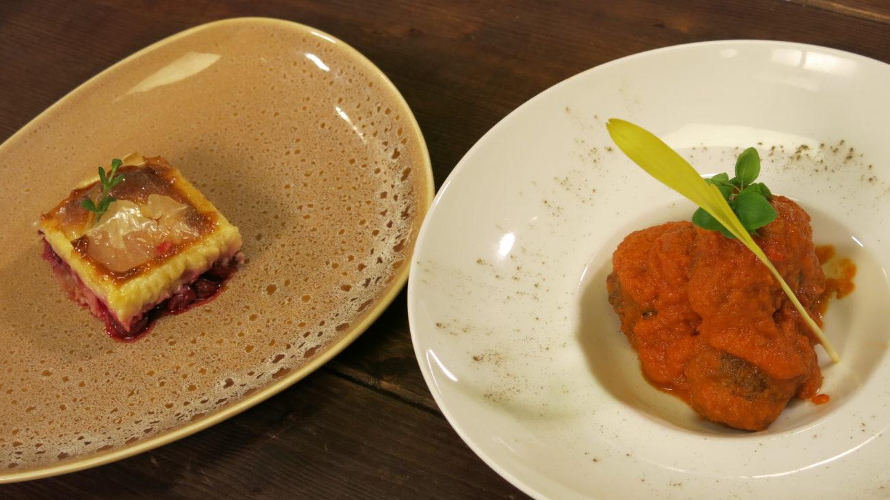Bombice od mesa u sosu od paradajza, baklava sa višnjama
